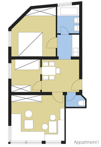 Layout Apartment 1