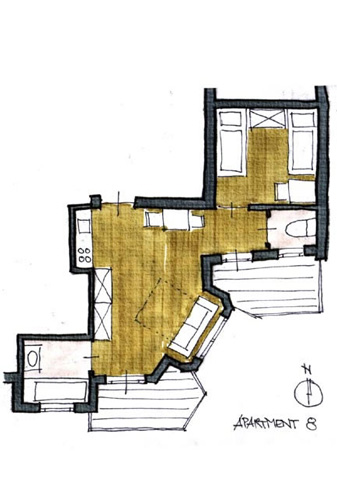 Layout Apartment 8